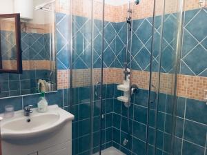 A bathroom at Albergo Villamarina