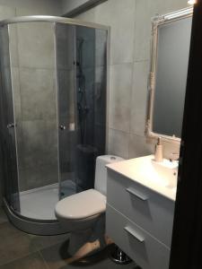 A bathroom at City Rooms Szczecin