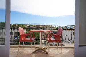 A balcony or terrace at Lotus Villa Sun Apartment
