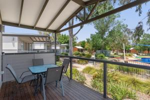 A balcony or terrace at Great Aussie Holiday Park