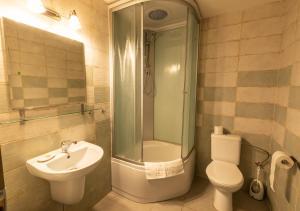 Koupelna v ubytování Penzion Dvůr Krasíkov