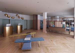 The lobby or reception area at Citadines Islington London