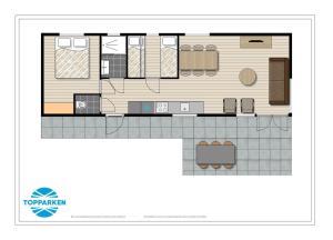 The floor plan of DL Comfort 5 personen