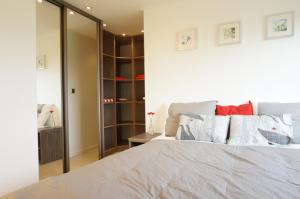 A bed or beds in a room at ES Comfort 4 personen