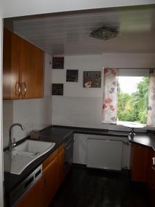 A kitchen or kitchenette at SC Apartment - Nürnberg Messe / Fränkisches Seenland