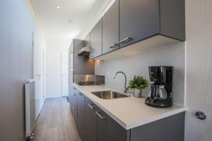 A kitchen or kitchenette at PDS Deluxe 6 personen