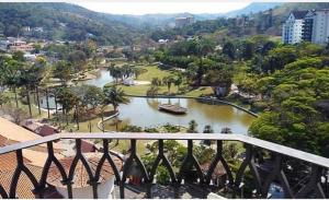 Uma varanda ou terraço em Hotel Guarany