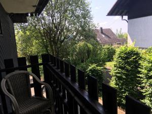 A balcony or terrace at Berghaus Winterberg