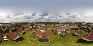Widok z lotu ptaka na obiekt domki rainers