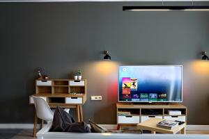 A television and/or entertainment centre at Apartament LAVENDER