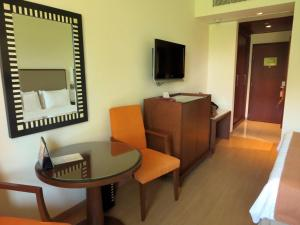 A television and/or entertainment center at Trident Agra