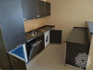 A kitchen or kitchenette at SunSetResort private apartments