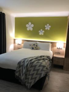Cama o camas de una habitación en Amber Heights