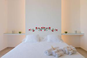 Letto o letti in una camera di B&B Casale Savini