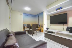 A seating area at Apartamentos Verano
