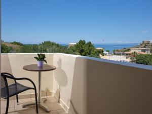 A balcony or terrace at Plaka Beach Resort