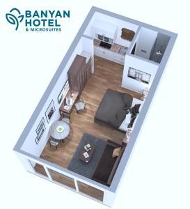The floor plan of Banyan Hotel & MicroSuites