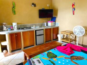 A television and/or entertainment center at Cabinas Jimenez