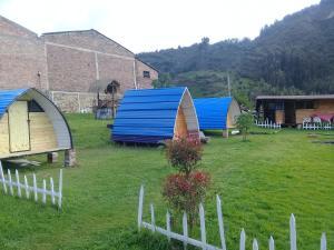 A garden outside Bahareque Casa Camping