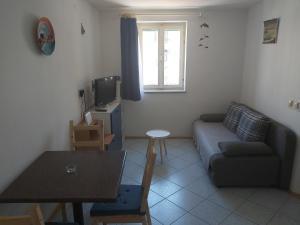 Ein Sitzbereich in der Unterkunft Apartment Dulcin Vodice