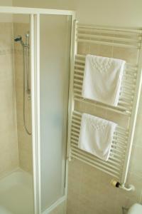 Koupelna v ubytování Penzion Pomnenka