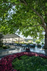 A garden outside Romantique Veles Hotel