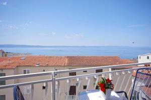 A balcony or terrace at Makarska sea view rooms