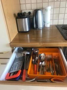 A kitchen or kitchenette at Grazer Schwalbe