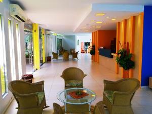 The lobby or reception area at Hotel Recanto Wirapuru