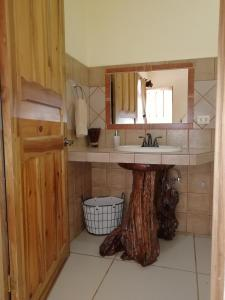 A kitchen or kitchenette at Paraiso Orocay Lodge