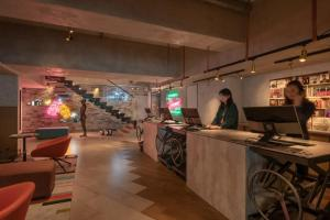 The lobby or reception area at Ovolo Southside