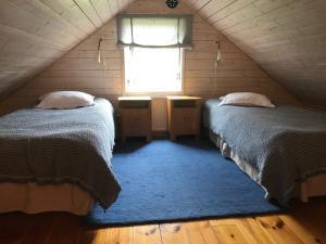Säng eller sängar i ett rum på Sjöbacken Gård