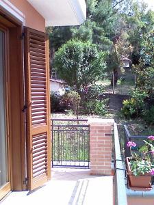 A balcony or terrace at Appartamenti Sole Mare Agropoli