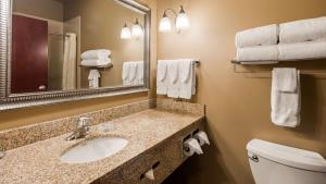 A bathroom at Best Western Golden Prairie Inn and Suites