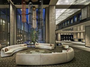De lobby of receptie bij Hotel Vischio Kyoto by GRANVIA