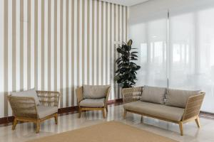 Een zitgedeelte bij Hotel Playasol Riviera