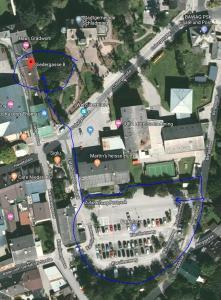 Letecký snímek ubytování Parkapartments Schladming