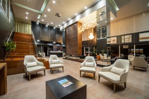 The lobby or reception area at Hotel Laghetto Stilo Borges