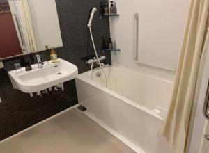 A bathroom at The Celecton Kyoto Horikawa Sanjo