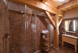Koupelna v ubytování Bruckneruv Dum