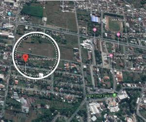 A bird's-eye view of Villa Batu Malang