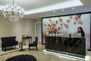 The lobby or reception area at The Boutique Hotel
