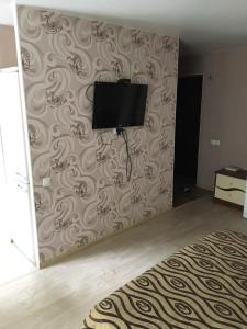 A television and/or entertainment centre at Comfort apartment in Novosibirsk center