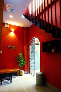 The lobby or reception area at K2 Homestay & Coffee