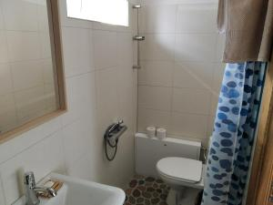 A bathroom at 9 min from Palanga! Cosy River Side Studio with sauna