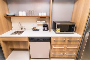 A kitchen or kitchenette at Home2 Suites by Hilton Las Vegas City Center