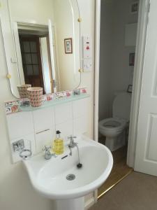 A bathroom at treverbyn house