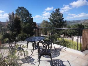 A balcony or terrace at Oleander Stone House