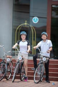 Biking at or in the surroundings of Vientiane Plaza Hotel