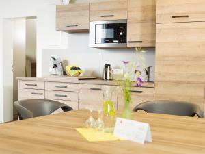 Küche/Küchenzeile in der Unterkunft Haus Maria Lindenberg